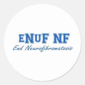 eNuF N-F Pegatina Redonda