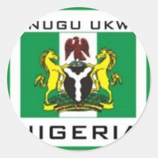 Enugu Ukwu, regalo de Nigeria del estado de Pegatina Redonda