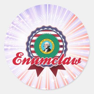 Enumclaw, WA Etiquetas Redondas