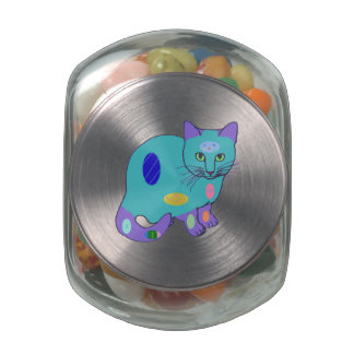 Envase de la haba de jalea del gatito de Pascua Frascos Cristal