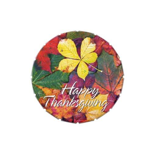 Envase del caramelo de las hojas de otoño 5 frascos de caramelos