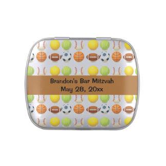 Envase del caramelo del favor de fiesta del diseño frascos de dulces