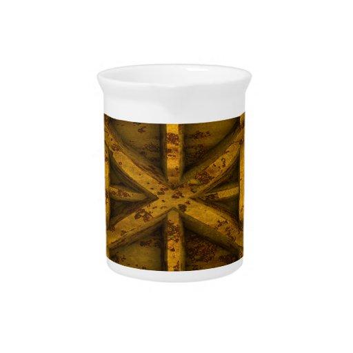 Envase oxidado - amarillo - jarra de beber