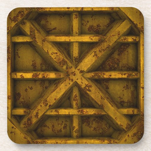 Envase oxidado - amarillo - posavaso