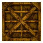 Envase oxidado - amarillo - poster