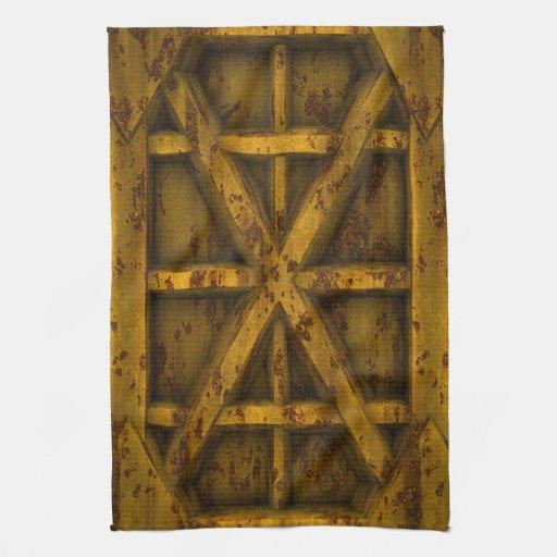 Envase oxidado - amarillo - toalla de mano
