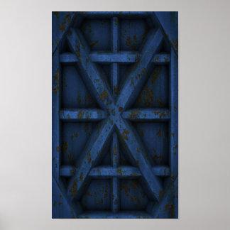 Envase oxidado - azul - póster