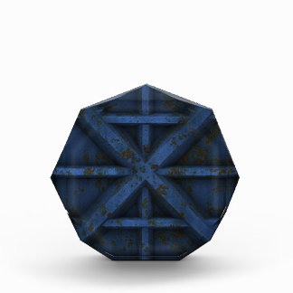 Envase oxidado - azul -