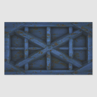 Envase oxidado - azul - rectangular pegatinas