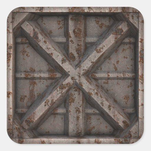 Envase oxidado - beige - pegatina cuadrada