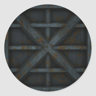 Envase oxidado - negro - etiqueta redonda