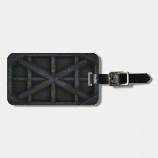 Envase oxidado - negro - etiquetas maletas