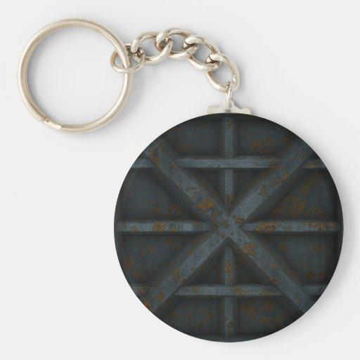 Envase oxidado - negro - llavero redondo tipo pin