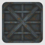 Envase oxidado - negro - calcomanías cuadradas personalizadas