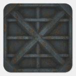 Envase oxidado - negro - pegatina cuadrada