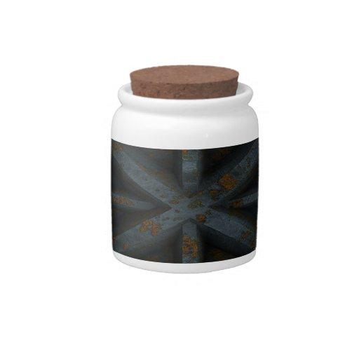 Envase oxidado - negro - platos para caramelos