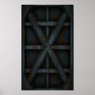 Envase oxidado - negro - póster