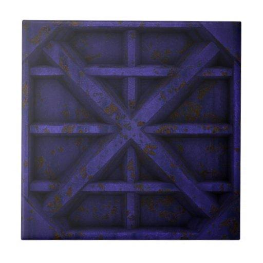Envase oxidado - púrpura - azulejo cuadrado pequeño