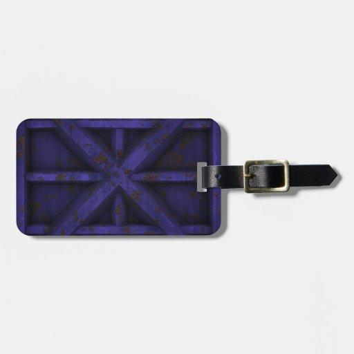 Envase oxidado - púrpura - etiquetas maleta