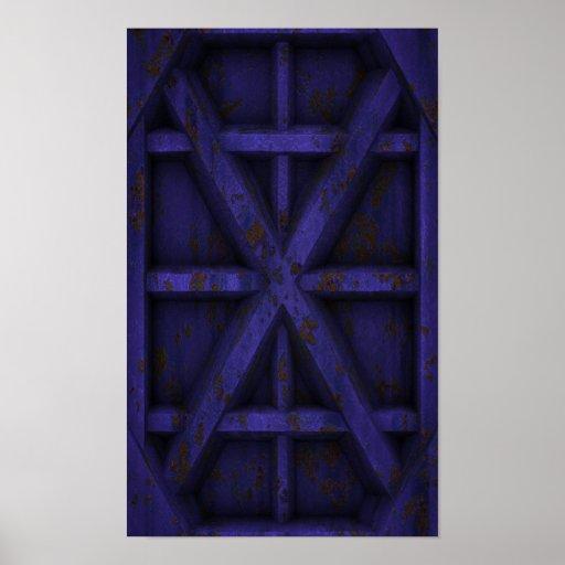Envase oxidado - púrpura - poster