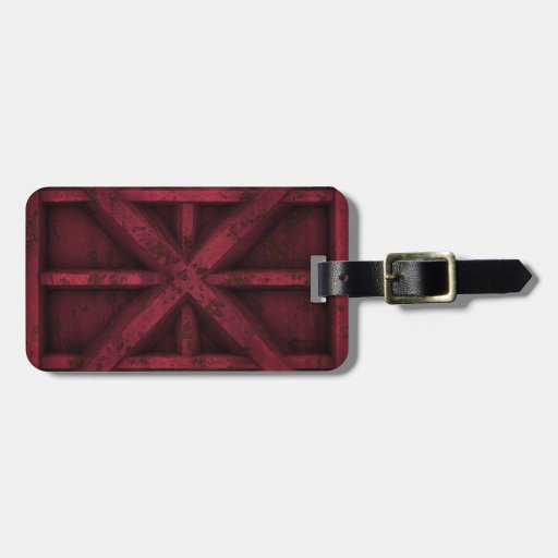 Envase oxidado - rojo - etiquetas para maletas