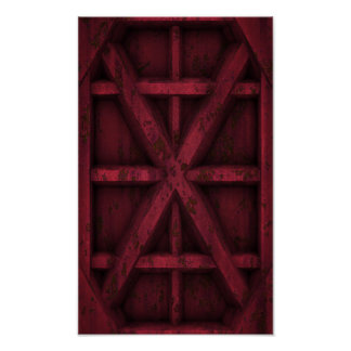 Envase oxidado - rojo - póster
