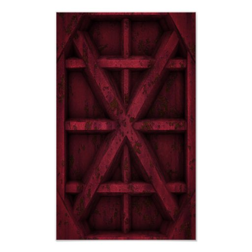 Envase oxidado - rojo - poster