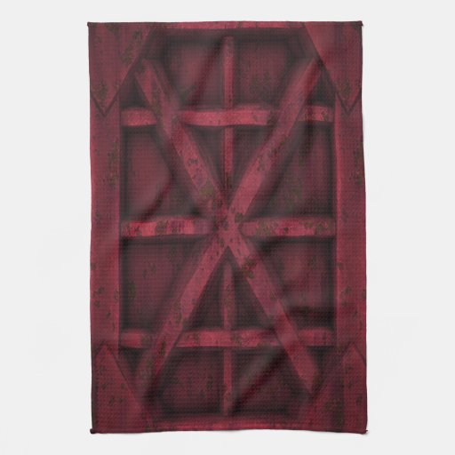 Envase oxidado - rojo - toalla de mano