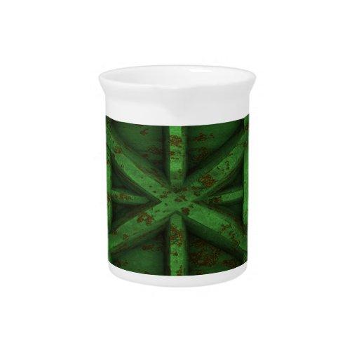 Envase oxidado - verde - jarras