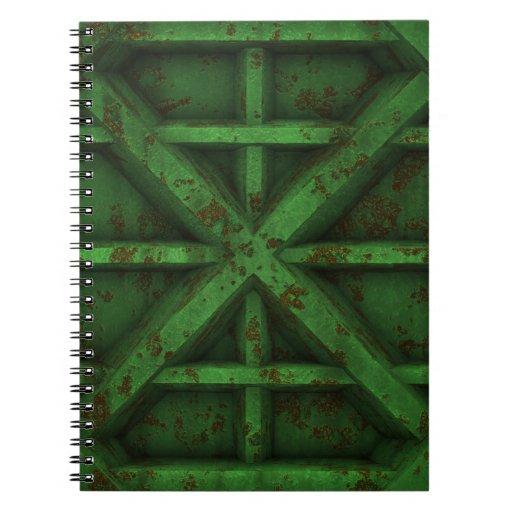 Envase oxidado - verde - libreta