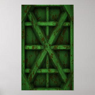 Envase oxidado - verde - póster