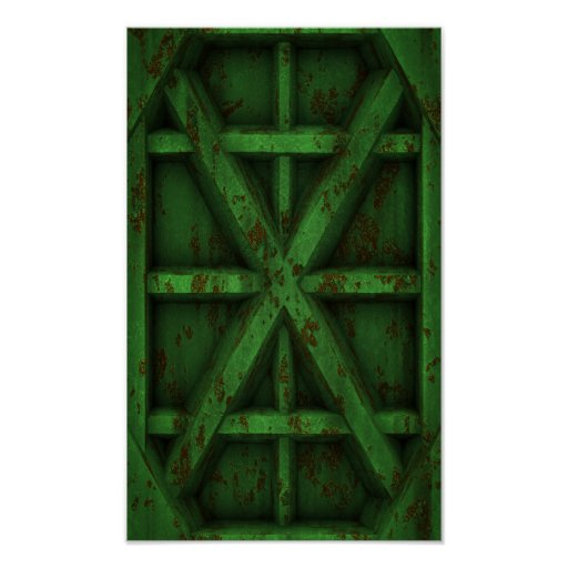 Envase oxidado - verde - poster