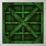 Envase oxidado - verde - posters