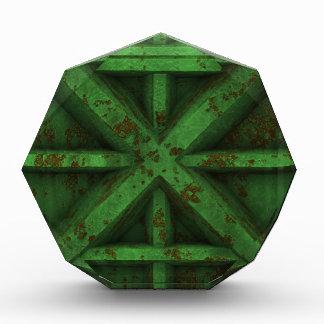 Envase oxidado - verde -