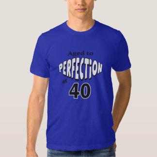 Envejecido a la perfección en 40 años cumpleaños camisas
