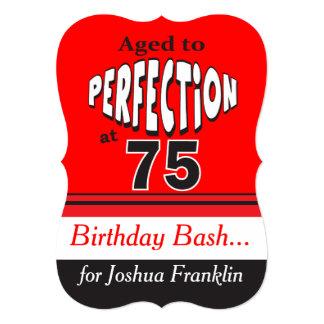 """Envejecido a la perfección en 75 invitación 5"""" x 7"""""""