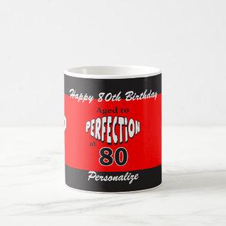 Envejecido a la perfección en el 80.o cumpleaños taza de café