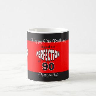 Envejecido a la perfección en el 90.o cumpleaños taza de café