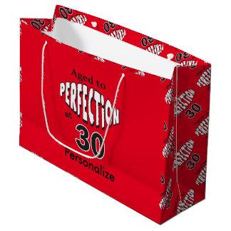 Envejecido a la perfección en el trigésimo bolsa de regalo grande