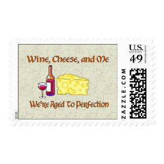Envejecido a la perfección sello postal