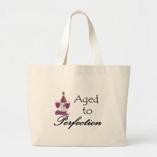 Envejecido a las camisetas y a los regalos de la p bolsa tela grande