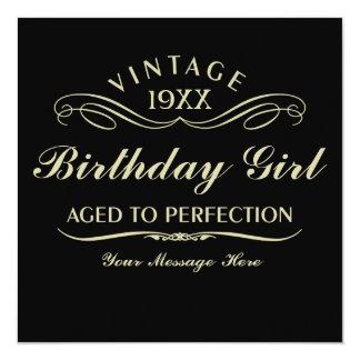 Envejecido al cumpleaños divertido de la invitación 13,3 cm x 13,3cm