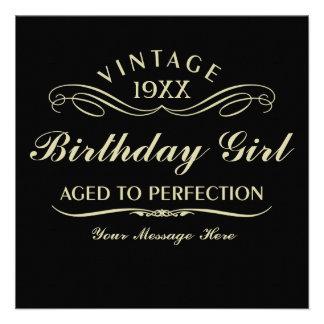 Envejecido al cumpleaños divertido de la perfecció anuncios