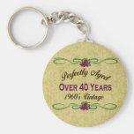 Envejecido perfectamente durante 40 años llaveros personalizados