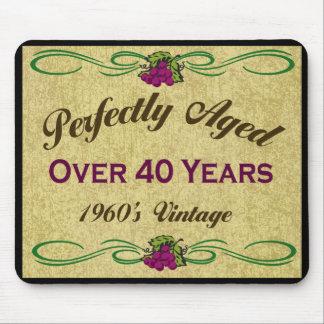Envejecido perfectamente durante 40 años tapete de ratones