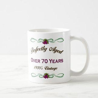 Envejecido perfectamente durante 70 años taza de café