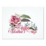 Envejecimiento agraciado - del día de madre de la invitación 10,8 x 13,9 cm