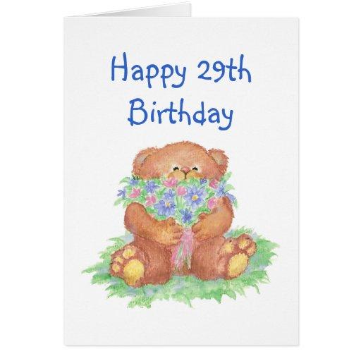 Envejezca el 29no cumpleaños del humor, flores lin felicitacion