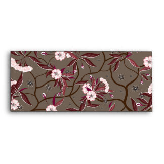 Envelop with decorative flowers envelope