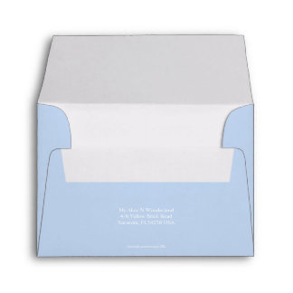 Envelope A2 Baby Blue Return Address